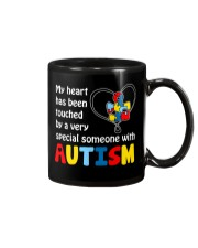 My heart touched by autism Mug thumbnail