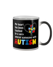 My heart touched by autism Color Changing Mug thumbnail