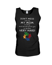 Autism My Mom Will Punch You In The Face Unisex Tank thumbnail