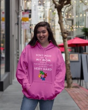 Autism My Mom Will Punch You In The Face Hooded Sweatshirt lifestyle-unisex-hoodie-front-2