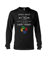 Autism My Mom Will Punch You In The Face Long Sleeve Tee thumbnail