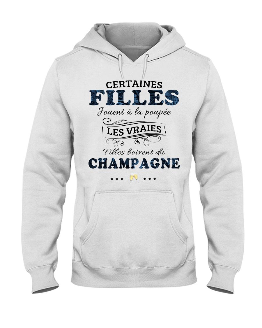 Filles Boivent Du Champagne Hooded Sweatshirt