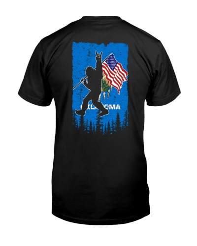 Oklahoma bigfoot American flag 0037