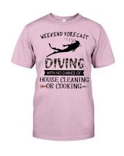 Scuba Diving Weekend Forecast 0012 Classic T-Shirt thumbnail