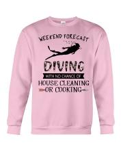 Scuba Diving Weekend Forecast 0012 Crewneck Sweatshirt thumbnail