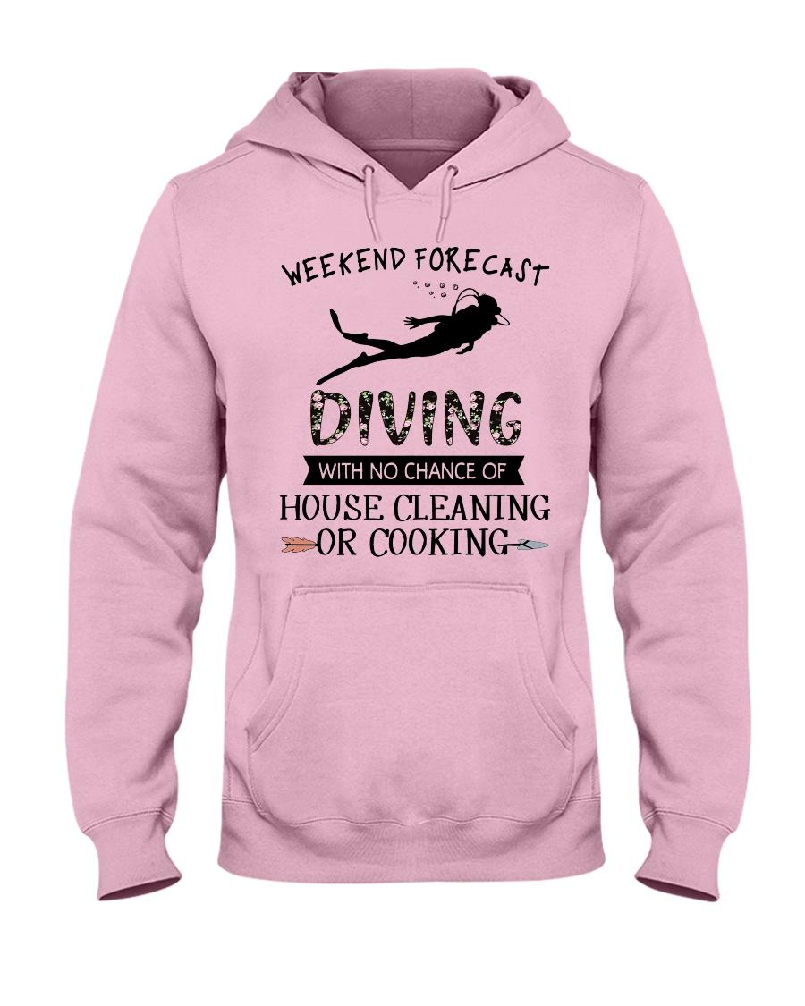 Scuba Diving Weekend Forecast 0012 Hooded Sweatshirt