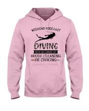 Scuba Diving Weekend Forecast 0012 Hooded Sweatshirt front