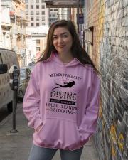 Scuba Diving Weekend Forecast 0012 Hooded Sweatshirt lifestyle-unisex-hoodie-front-1