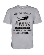 Scuba Diving Weekend Forecast 0012 V-Neck T-Shirt thumbnail