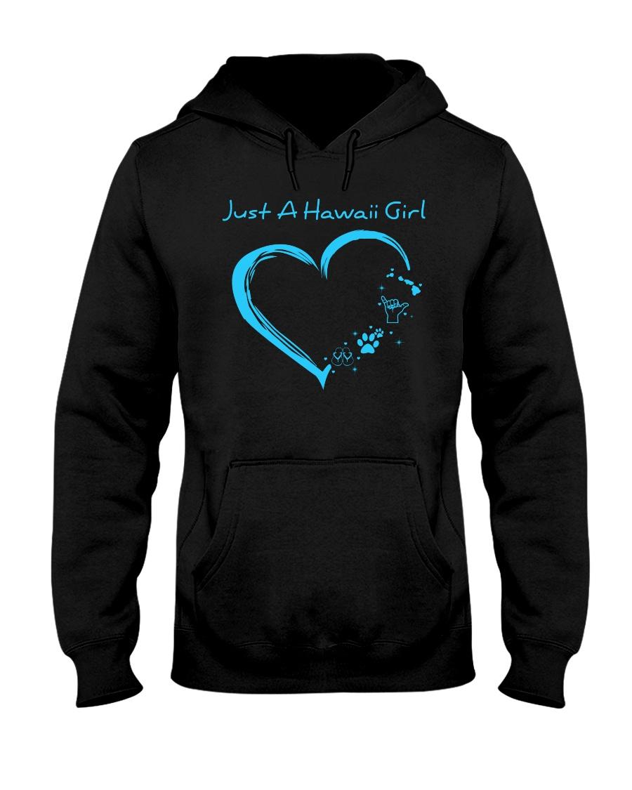 Hawaii Blue Heart PT Hooded Sweatshirt
