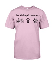 Cycling - simple woman Classic T-Shirt tile