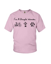 Cycling - simple woman Youth T-Shirt tile