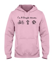 Cycling - simple woman Hooded Sweatshirt front