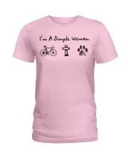 Cycling - simple woman Ladies T-Shirt tile