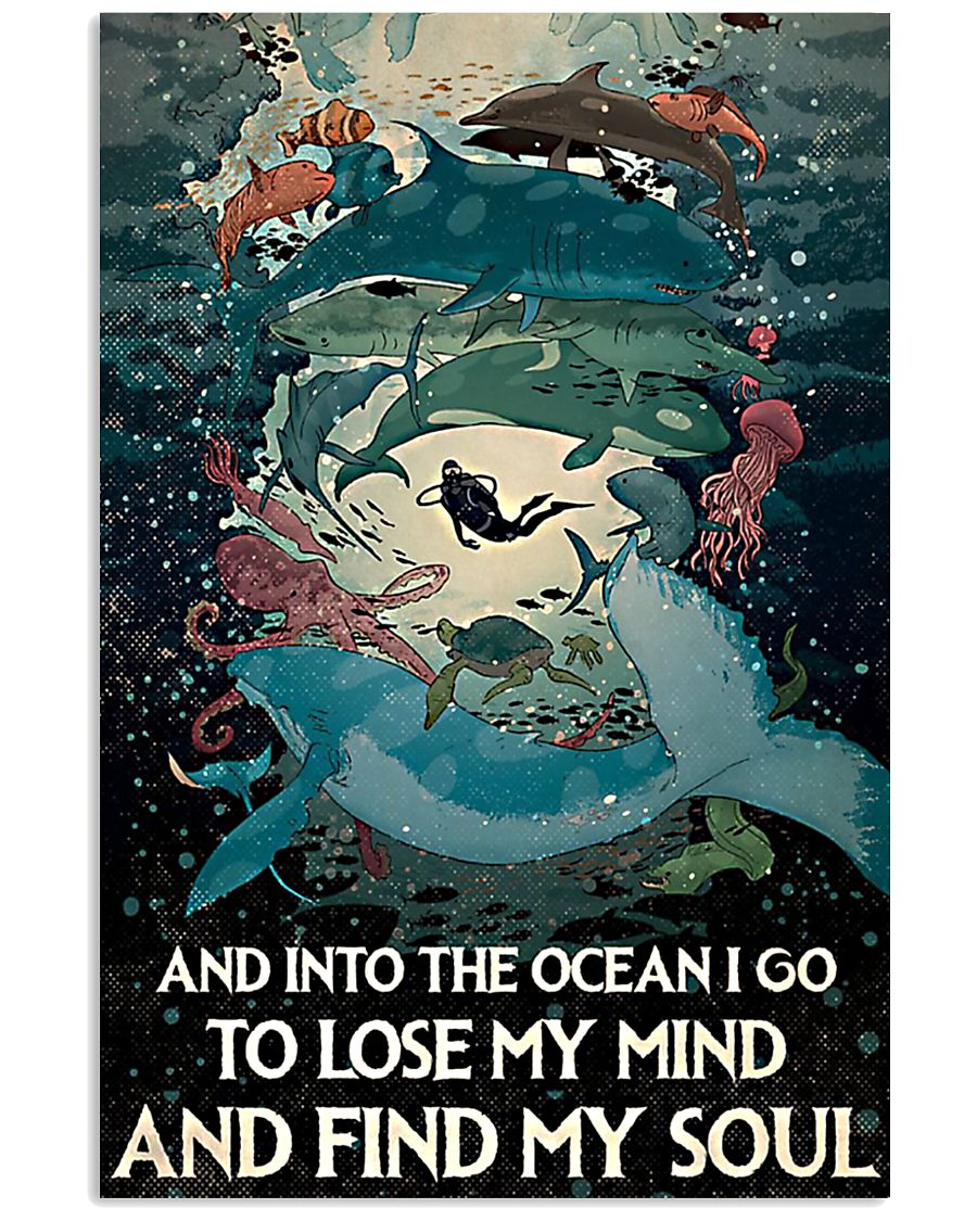 And Into the ocean I Go - Scuba Diving 11x17 Poster