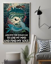And Into the ocean I Go - Scuba Diving 11x17 Poster lifestyle-poster-1