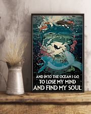 And Into the ocean I Go - Scuba Diving 11x17 Poster lifestyle-poster-3