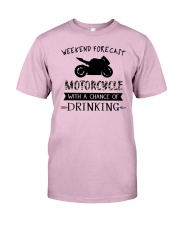 motorcycle-weekend forecast-drinking 0001 Classic T-Shirt thumbnail