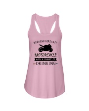motorcycle-weekend forecast-drinking 0001 Ladies Flowy Tank thumbnail