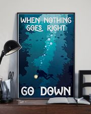 when nothing goes right go down 11x17 Poster lifestyle-poster-2