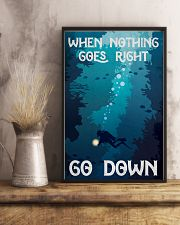 when nothing goes right go down 11x17 Poster lifestyle-poster-3