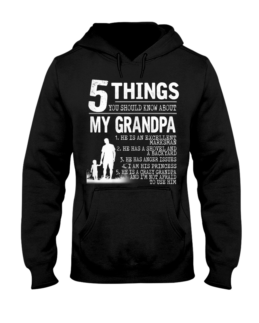 5 Things about my Grandpa Hooded Sweatshirt
