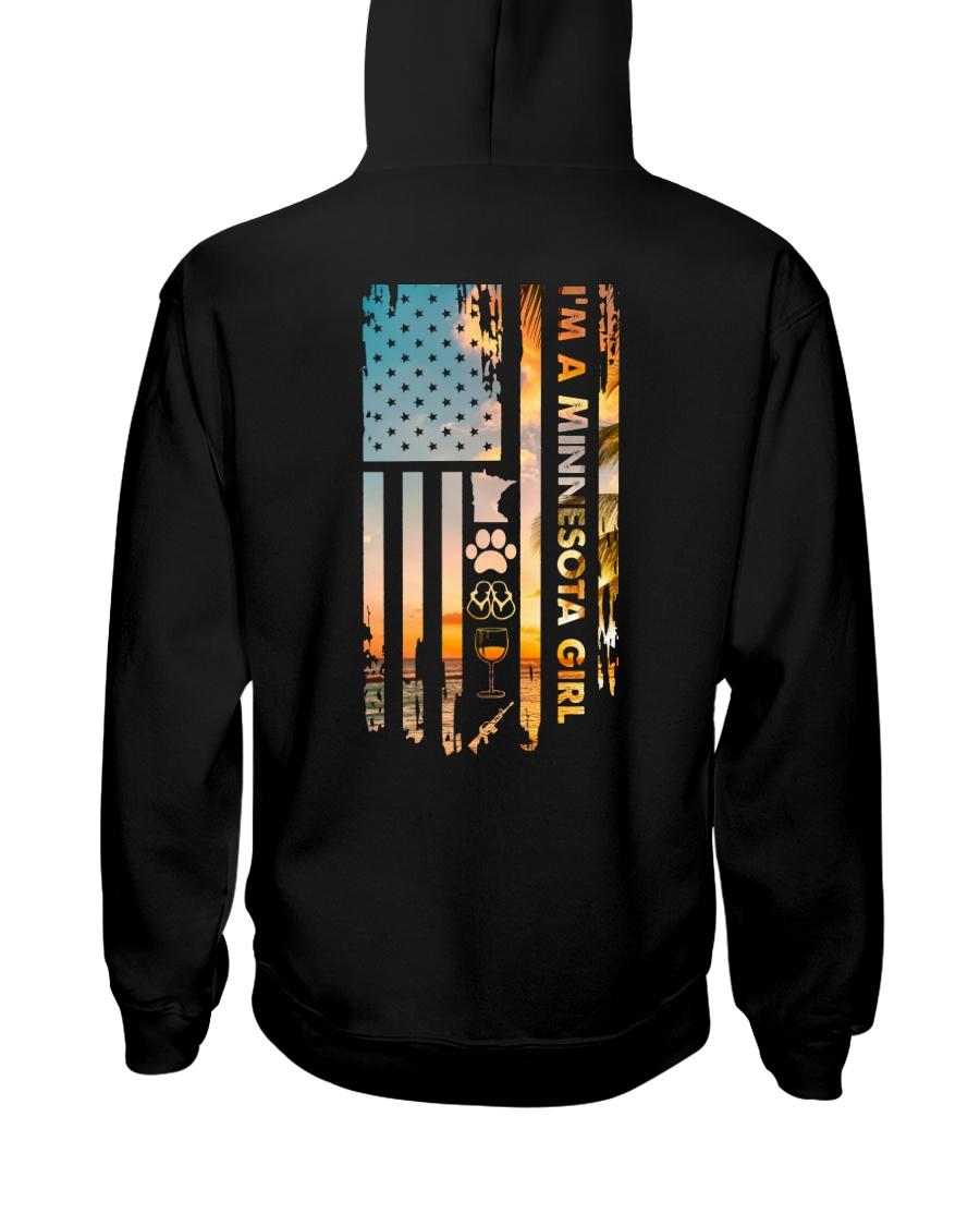 Minnesota USA Flag AR 15 PT 18 Hooded Sweatshirt