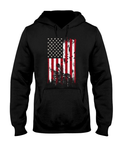 Motorcycle girl Usa Flag front 0005