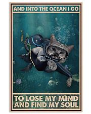 And Into The Ocean I Go - Cat Poster 0012 11x17 Poster front