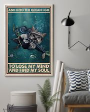 And Into The Ocean I Go - Cat Poster 0012 11x17 Poster lifestyle-poster-1