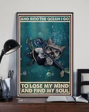 And Into The Ocean I Go - Cat Poster 0012 11x17 Poster lifestyle-poster-2