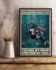 And Into The Ocean I Go - Cat Poster 0012 11x17 Poster lifestyle-poster-3
