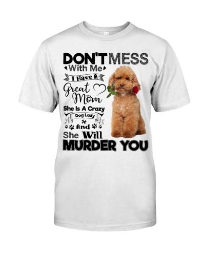 dog mom crazy poodle 9997