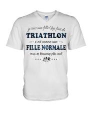 Fille Normale - Trithlon V-Neck T-Shirt thumbnail