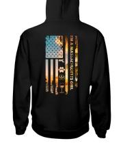 Massachusetts USA Flag Hooded Sweatshirt back