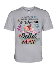 Never Underestimate A Woman - Ballet May V-Neck T-Shirt thumbnail