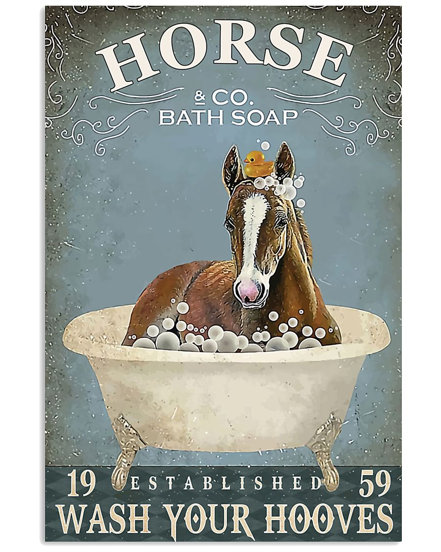 HORSE - wash your hooves 11x17 Poster