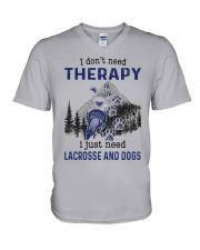 I Don't Need Therapy - Lacrosse V-Neck T-Shirt thumbnail