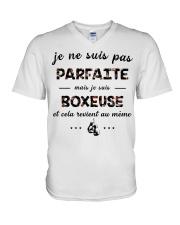 Boxeuse - Je ne Suis Pas Parfaite V-Neck T-Shirt thumbnail
