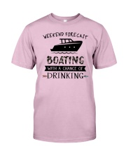 boating-weekend forecast-drinking 0001 Classic T-Shirt thumbnail