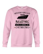 boating-weekend forecast-drinking 0001 Crewneck Sweatshirt thumbnail