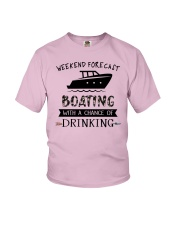 boating-weekend forecast-drinking 0001 Youth T-Shirt thumbnail
