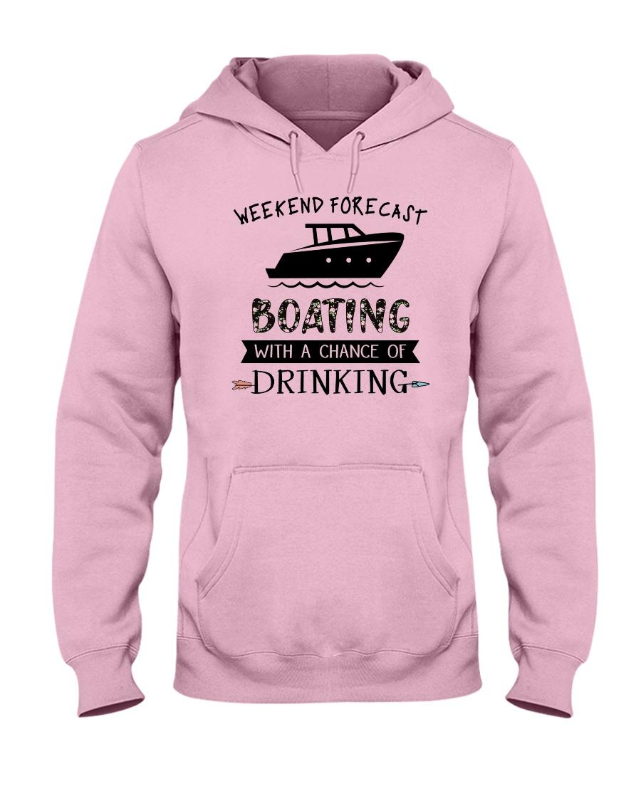 boating-weekend forecast-drinking 0001 Hooded Sweatshirt