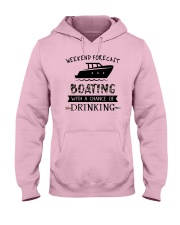 boating-weekend forecast-drinking 0001 Hooded Sweatshirt front