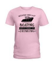 boating-weekend forecast-drinking 0001 Ladies T-Shirt thumbnail