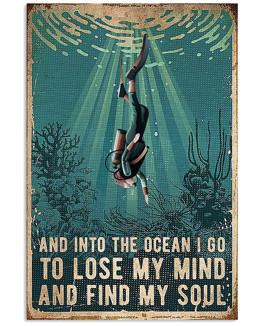 Scuba Diving - Into The Ocean I Go 0012 24x36 Poster