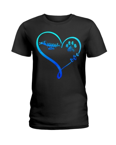 Dragon boat Blue Heart