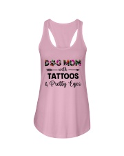 dog mom tattoos ha Ladies Flowy Tank thumbnail