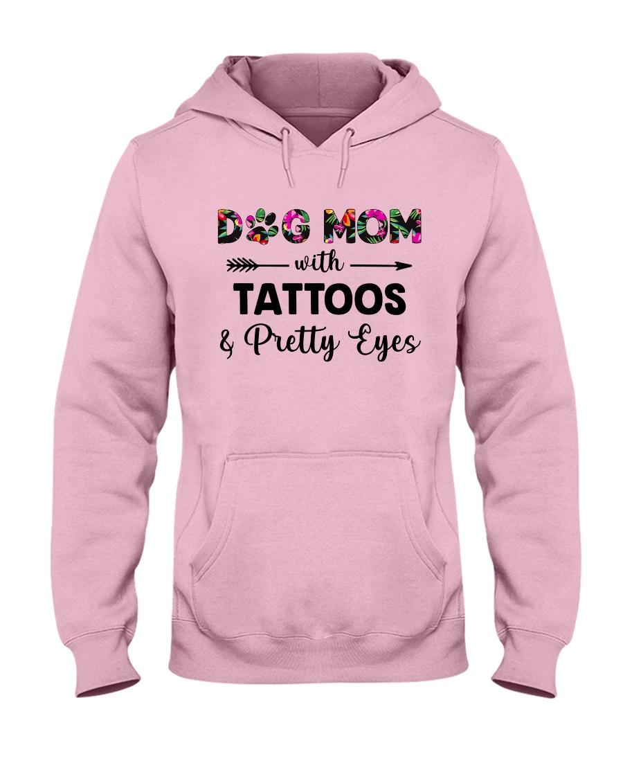 dog mom tattoos ha Hooded Sweatshirt