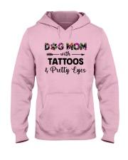 dog mom tattoos ha Hooded Sweatshirt front